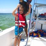 Captain Lee with  our newest deckhand!